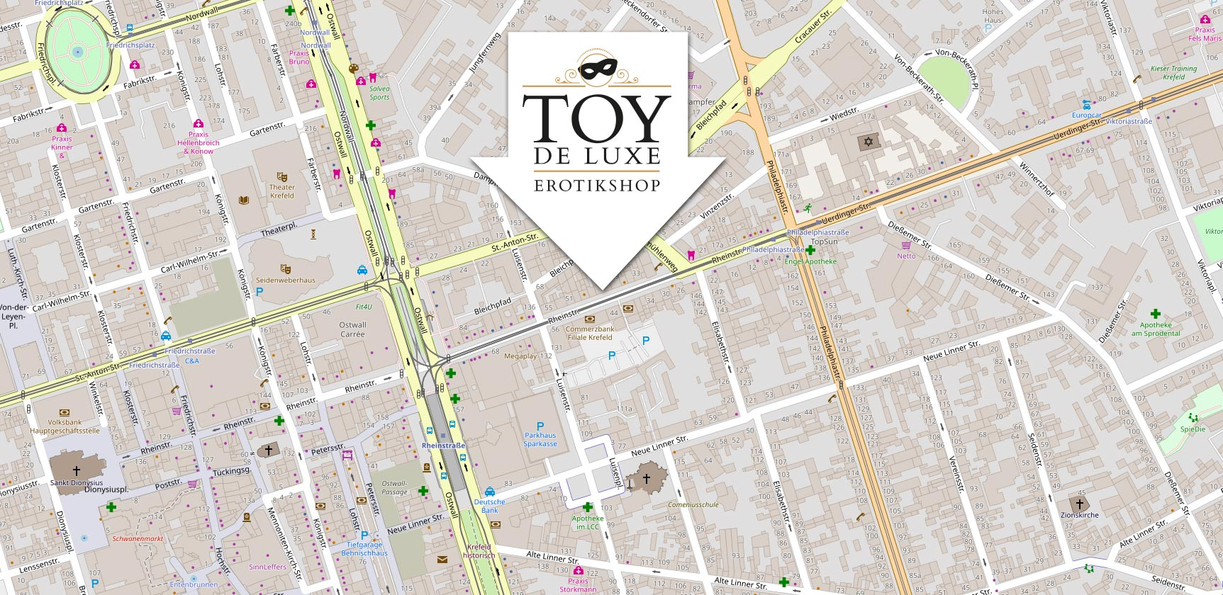 Toy de Luxe – dein Sexshop in Krefeld - Anfahrt